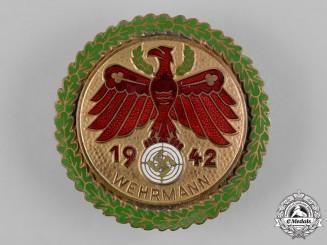 Germany, Third Reich. A 1942 Tirol Gau Champion Marksmanship Badge with Oak Leaves