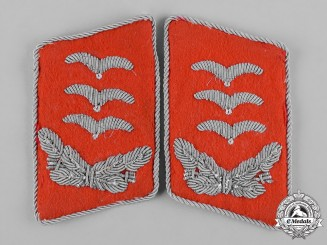 Germany, Luftwaffe. A Set of Flak Hauptmann Collar Tabs