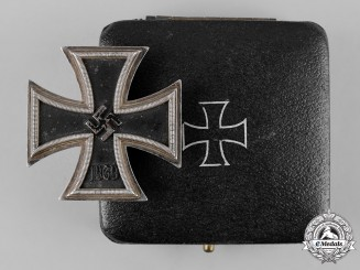 Germany, Wehrmacht. A Cased 1939 Iron Cross I Class, by Gebrüder Godet & Co., Dietrich Maerz Collection
