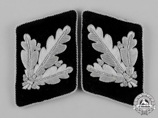 Germany, SS. A Set of Waffen-SS Brigadeführer Collar Tabs, Type II