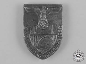 Germany, NSDAP. A 1942 Luxembourg NSDAP Regional Day Badge by Ziemer & Söhne