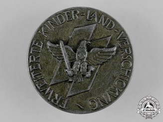 Germany, Third Reich. A Wartime Evacuation of German Children Commemorative Table Medal