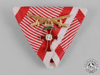 Austria, Imperial. A Ribbon for an Order of Franz Joseph with Small Decoration