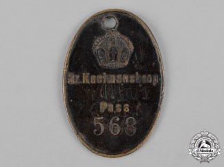 Germany, Imperial. A South West Africa Native Identification Badge