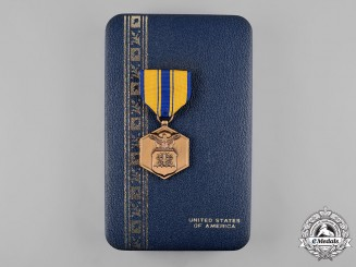 United States. An Air Force Commendation Medal in Case