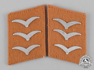 Germany, Luftwaffe. A Set of Signals Obergefreiter Collar Tabs