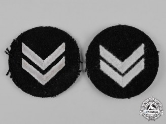 Germany, HJ. A pair of HJ/DJ Sleeve Rank Insignia