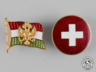 Austria, Imperial. A Pair of Austro-Hungarian Badges