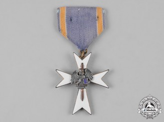 Estonia, Republic. A White Cross of the Home Guard, III Class