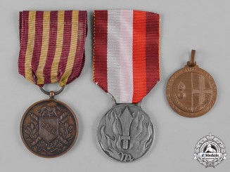 Italy, Kingdom. Three Medals