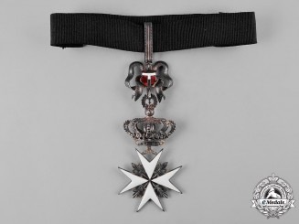 Italy, Kingdom. An Order of Merit of the Sovereign Military Hospitaller Order of Saint John, by Tanfani Bertarelli