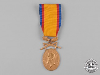 Romania, Kingdom. A Medal for Manhood and Loyalty with Crossed Swords, I Class