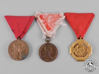 Austria, Empire. Three Medals & Decorations