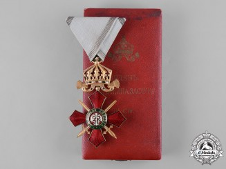 Bulgaria, Kingdom. An Order of Military Merit, IV Class Officer with Case, c.1920