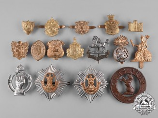 United Kingdom. A Lot of Regimental Cap Badges