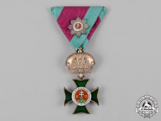Austria, Imperial. An Order of St. Stephen, Knight's Cross with Small Decoration of Grand Cross (Collectors Copy)