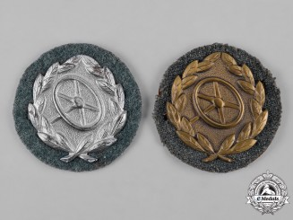 Germany, Third Reich. A Pair of Driver Proficiency Badges, Silver and Bronze Grades