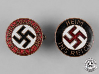 Germany, Third Reich. A Pair of NSDAP Badges