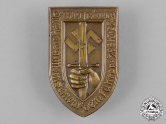 Germany, NSDAP. A 1934 Event Badge for Gau Halle-Merseburg