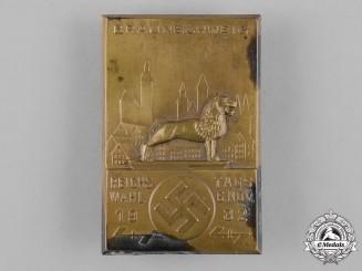 Germany, Third Reich. A 1932 Braunschweig Reichs Election Day Badge