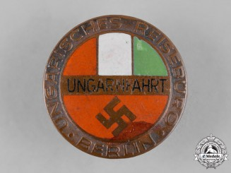 Germany, Third Reich. A Berlin Hungarian Travel Bureau Badge