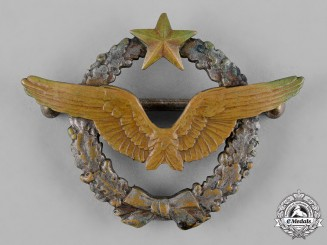 France, III Republic. An Army of the Air Aircraft Pilot Qualification Badge, c.1939