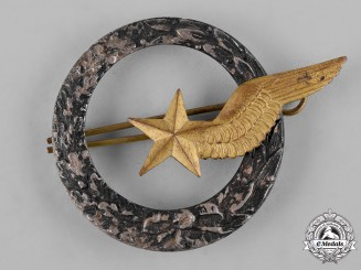 France, III Republic. An Army of the Air Observer/Cadet Aircraft Pilot Qualification Badge, c.1939
