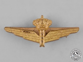 Italy, Kingdom. An Air Force Observer Qualification Badge