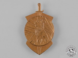 Hungary, Kingdom. A Sports Badge in Bronze by Ludvige