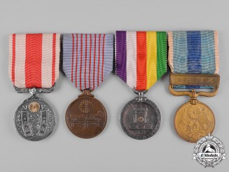 Japan, Empire. Four Medals & Decorations