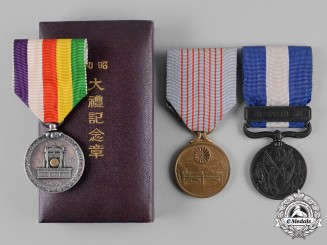 Japan, Empire. Three Commemorative Medals