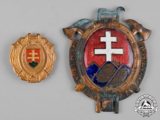 Slovakia, Republic. Two Fire Brigade Badges