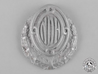 Croatia, Independent State. An Army Officer's Service Cap Badge, II Pattern (M1942)