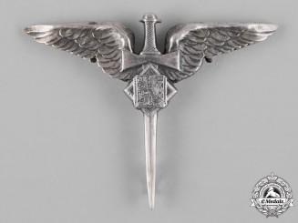 Czechoslovakia, Republic. An Air Gunner Badge, by FP, c.1940