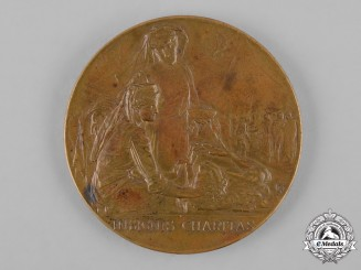 Italy, Kingdom. A Women of Libya Red Cross Table Medal 1911-1912