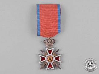 Romania, Kingdom. An Order of the Crown of Romania, V Class Knight, Military Division, c.1940