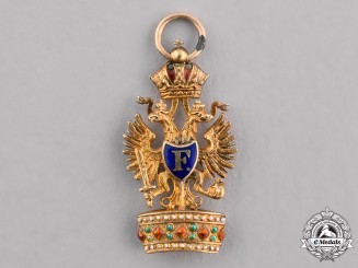 Austria, Imperial. An Order of the Iron Crown Miniature, ca.1900