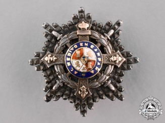 Spain, Kingdom. A Military Order of Maria Cristina, Miniature Star, c.1900