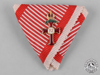 Austria, Imperial. A Ribbon for an Order of Franz Joseph with War Decoration