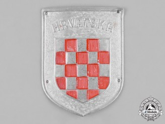 Croatia, Independent State. An Italian-Croatian Legion Badge