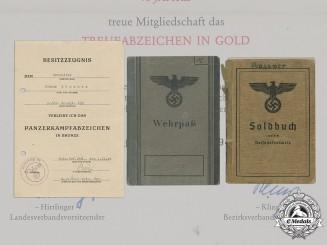 Germany, Heer. The Documents of Josef Mössner Obergefreiter Günther Mössner, 23rd Panzer Division