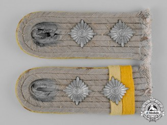 Germany, Heer. A Set of Signals Military Police Hauptmann Shoulder Boards