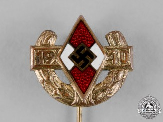 Germany, HJ A 1940 Pin of the German Youth Champion, Gold Grade, by B.H. Mayer