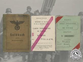 Germany, Heer. A Soldbuch & Documents To Artillery Gunner Heinz Fischer (Battle Of The Bulge)