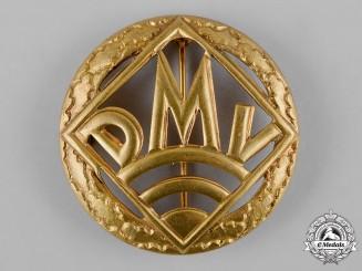 Germany, DMV. A German Motorsports Association (DMV) Golden Merit Badge