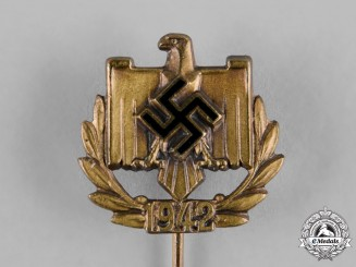 Germany, NSRL. A 1942 National Socialist League of the Reich for Physical Exercise (NSRL) Member's Stick Pin