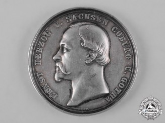 Saxe-Coburg and Gotha, Duchy. A Medal for Services to Agriculture by F. Helfricht, c.1873