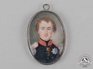 Prussia, Kingdom. A Miniature Portrait of an Officer, c.1860