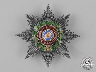 Bavaria, Kingdom. An Order of Merit of the Bavarian Crown, Grand Cross Star, by Eduard Quellhorst, c.1890