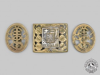 Czechoslovakia, First Republic. An Officer's Belt Buckle, with Badges